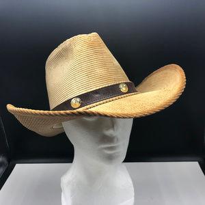 Resistol Cowboy hat corduroy tan western vintage